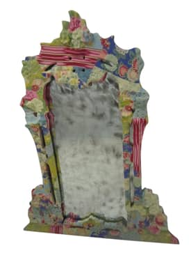 Rugs USA Ethno Vintage style Mirror adorned with Fabric