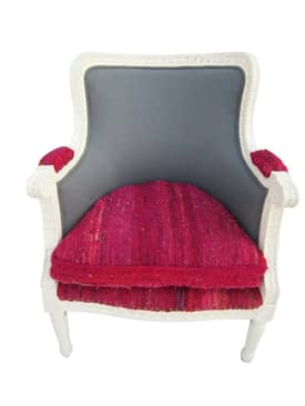 Rugs USA Ethno Sari Silk Arm Chair Furniture
