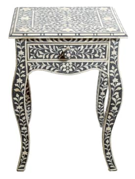 Rugs USA Ethno Bone Inlay End Table Furniture