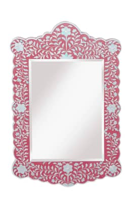 Rugs USA Ethno Bone Inlay Framed Mirror