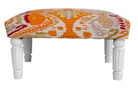 Rugs USA Ethno Small Kantha Ikat Stool Furniture