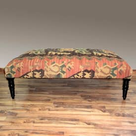 Rugs USA Benches Traditional Upholstered Wooden Bench Furniture