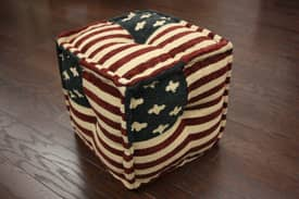 Rugs USA Poufs USA Flag Pouf Furniture