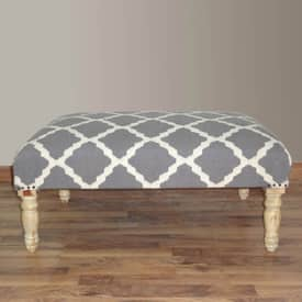 Rugs USA Ottomans Contemporary Moroccan Trellis Bench Furniture