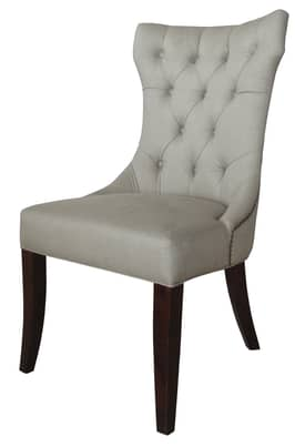 Rugs USA Dining Chairs Elegant Linen upholstered Dining Chairs (Set of 2) Furniture