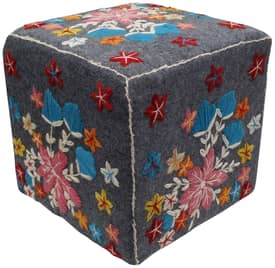 Rugs USA Poufs Suzani Ethnic Pouf Furniture