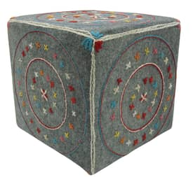 Rugs USA Ottomans Suzani Star Square Pouf Furniture