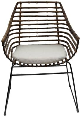 Rugs USA Ephesus Rattan Accent Chair with Solid Foam Seat Furniture