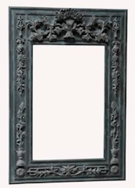 Rugs USA Golden Gate Adelaide Antique style Wooden Frame with Mirror