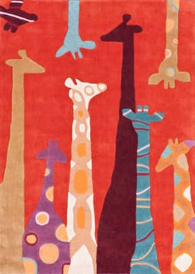 Rugs USA Fergana Colorful Giraffes Rug