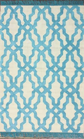 Rugs USA Elegance Cotton Trellis VST13 with Fringes Rug