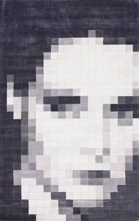Rugs USA Trendz Pixelated Woman Portrait Rug