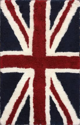 Rugs USA Tuscan British Flag Shag Rug