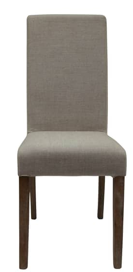 Rugs USA Casual Living Weathered French Straight Back Linen Dining Chair (Set of 2) Furniture