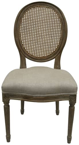 Rugs USA Casual Living Weathered French Linen Round Back Chair (Set of 2) Furniture