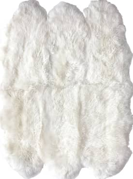 Rugs USA Shag Sexto Sheepskin with Faux Backing Rug