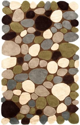 Rugs USA Serendipity Contemporary Handmade Wool Pebbles Cobblestone Rug