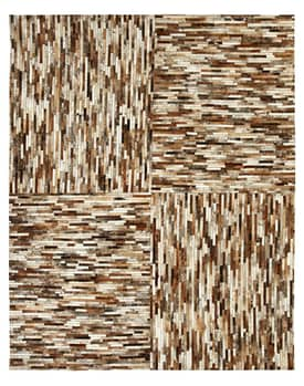 Rugs USA Alabaster Cow Hide Patchwork Rug