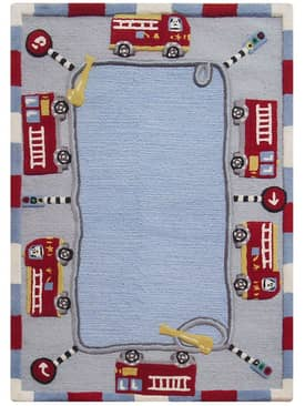 Rugs USA Cradle Fire Trucks Rug