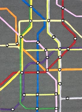 Rugs USA Cradle Subway Map Rug