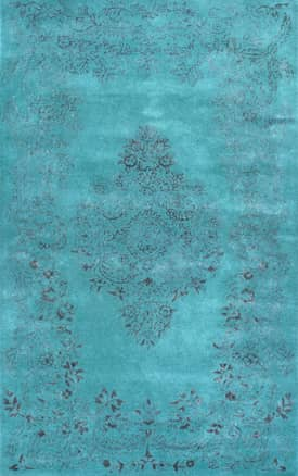 Rugs USA Overdye RE23 Vintage Leaf Ornament Rug