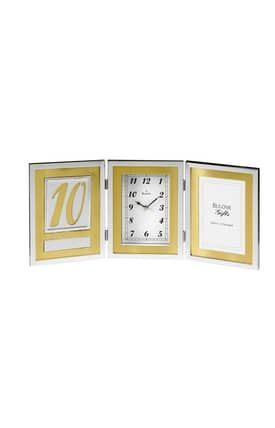 Bulova Tabletop Clocks Medallion Picture Frame Table Clock