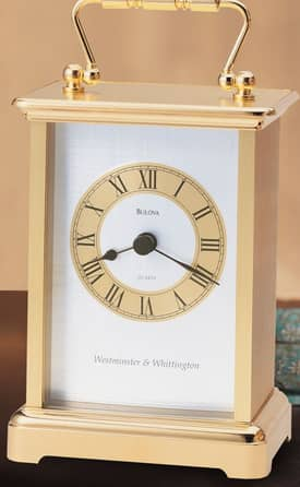 Bulova Tabletop Clocks Essex Table Clock