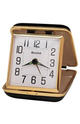 Bulova Tabletop Clocks Reliable II Travel Table Clock