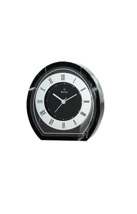 Bulova Tabletop Clocks Amity Black Marble Table Clock