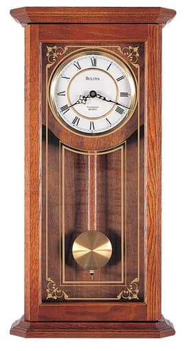 Bulova Wall Chimes Cirrus Chiming Wall Clock