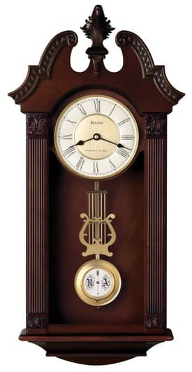 Bulova Wall Chimes Ridgedale Chiming Wall Clock