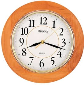 Bulova Wooden Wall Clocks Madeline I Wall Clock