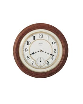 Bulova Wooden Wall Clocks William Wall Clock