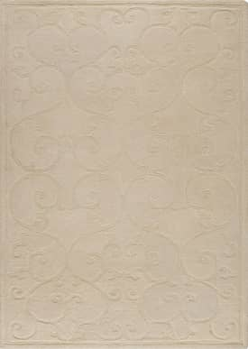 M.A. Trading Transitional Phase Wrought Iron Scroll Rug
