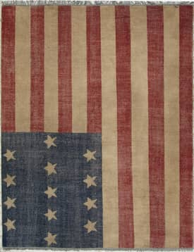 Eastern Oriental Patch American Flag Rug