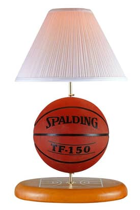 Lite Source Inc. Allsport Allsport Basketball Ball Desk Lamp With Solid Wood base Lighting
