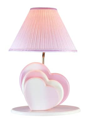 Lite Source Inc. Heart Heart Table Lamp in Pink Finish Lighting