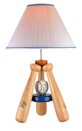 Lite Source Inc. Baseball Bat No Base Triple Bat Desk Lamp in Solid Wood Lighting