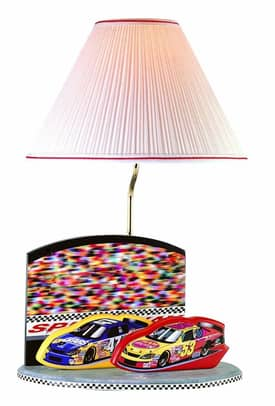 Lite Source Inc. Nascar Nascar Table Lamp With Solid Wood Base Lighting