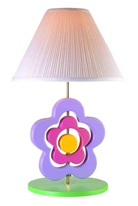 Lite Source Inc. Hippie Hippie Spinning Flower Table Lamp in Multi Lighting