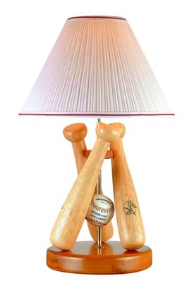 Lite Source Inc. Baseball Bat Triple Bat Desk Lamp in Wood Base Lighting