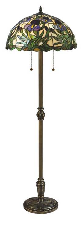 Lite Source Inc. Kamran Kamran C61045 Floor Lamp in Antique Brass Finish Lighting