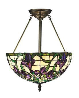 Lite Source Inc. Kamran Kamran C71045 3 Light Pendant in Antique Brass Finish Lighting