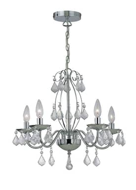 Lite Source Inc. Brinda Brinda C71157 5 Light Chandelier in Chrome Finish Lighting