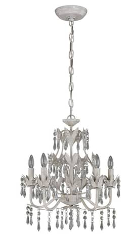 Lite Source Inc. Evelyn Evelyn 5 Light chandelier in Classic White Finish Lighting