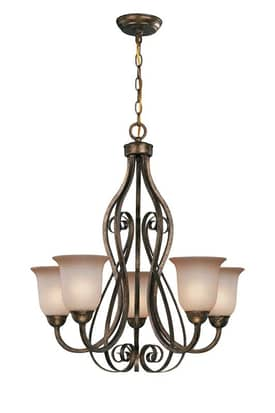 Lite Source Inc. Helen Helen C7275 5 Light Chandelier in Dark Bronze Finish Lighting