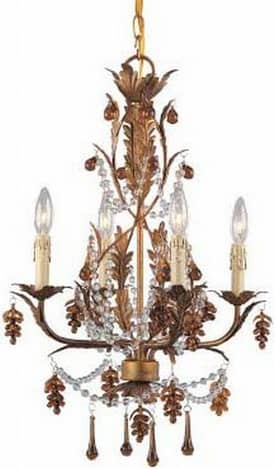 Lite Source Inc. Austell Austell Chandelier With 4 Lights in Antique Brass Finish Lighting