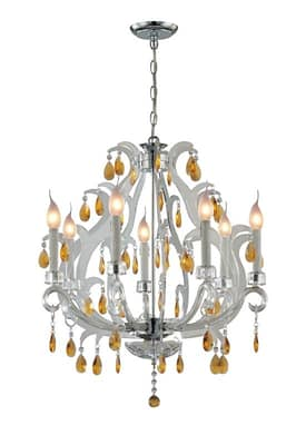 Lite Source Inc. Clarinda Clarinda C7887 7 Light Chandelier in Chrome Finish Lighting
