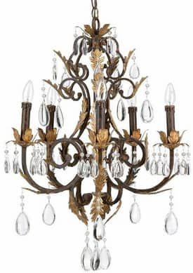 Lite Source Inc. Stedim Stedim Chandelier With 5 Lights in Antique Bronze Finish Lighting