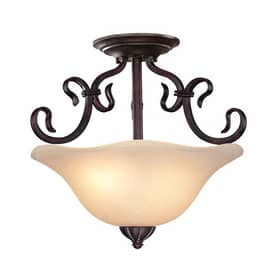 Lite Source Inc. Laurent Laurent C7954 2 Light Semi Flush Mount in Antique Bronze Finish Lighting